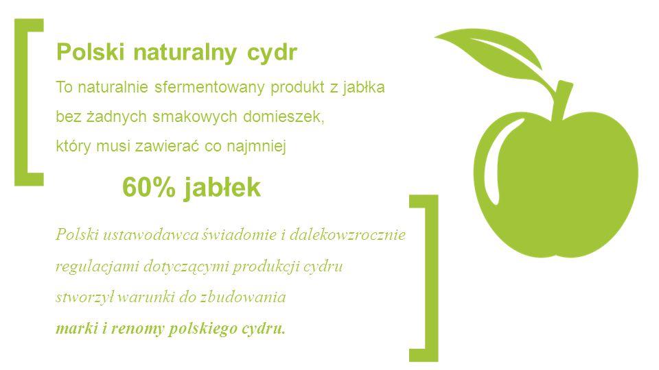 [ ] 60% jabłek Polski naturalny cydr